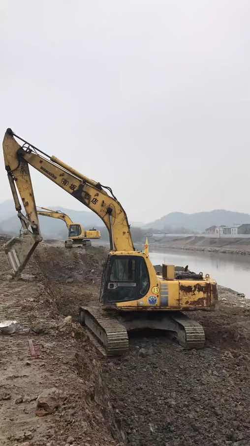 【金猪送福】孤山城外修江堤 江风渔火开挖机
