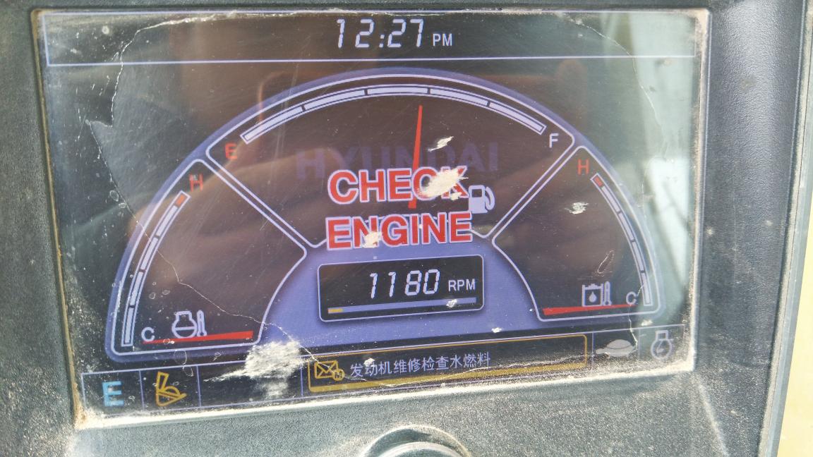 现代305机报警:发动机维修检查水燃料