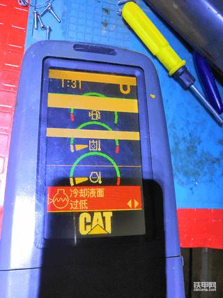 卡特320d系列显示屏的维修。