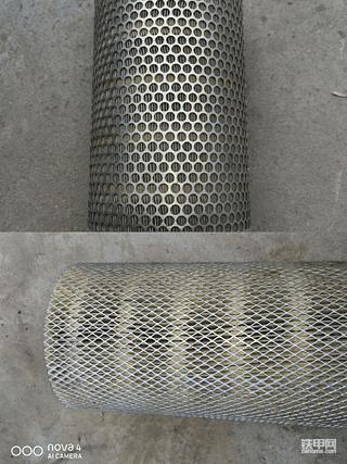 日立原厂空滤和杂牌空滤对比