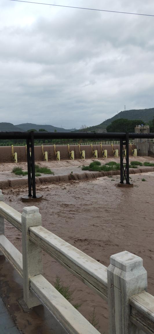 今年第一次发洪水