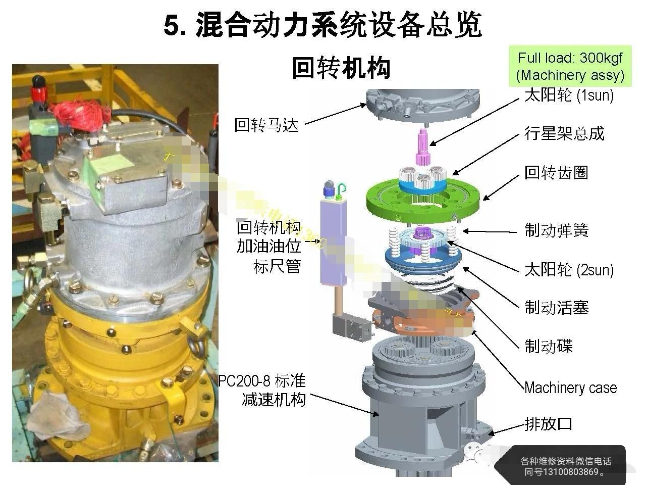 小松混合动力型挖掘机旋转过慢的故障维修