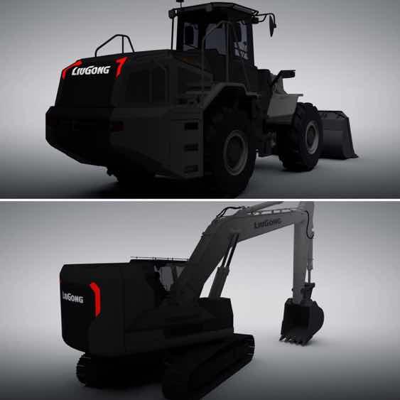 柳工电动挖掘机,电动装载机,酷吧!