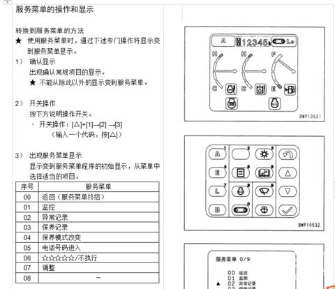 小松PC200-7和300-7故障代码和服务代码