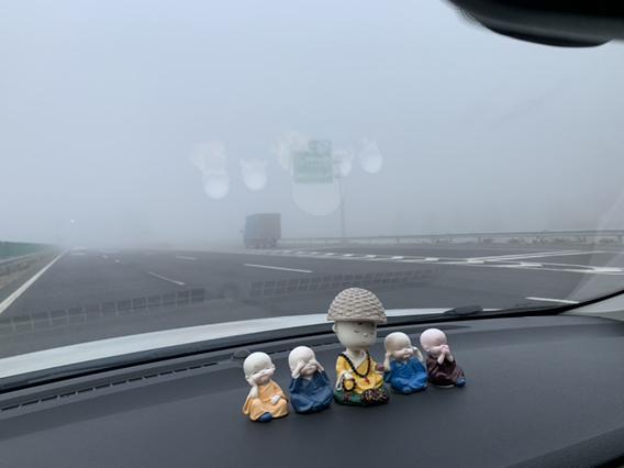 今天雾太大了