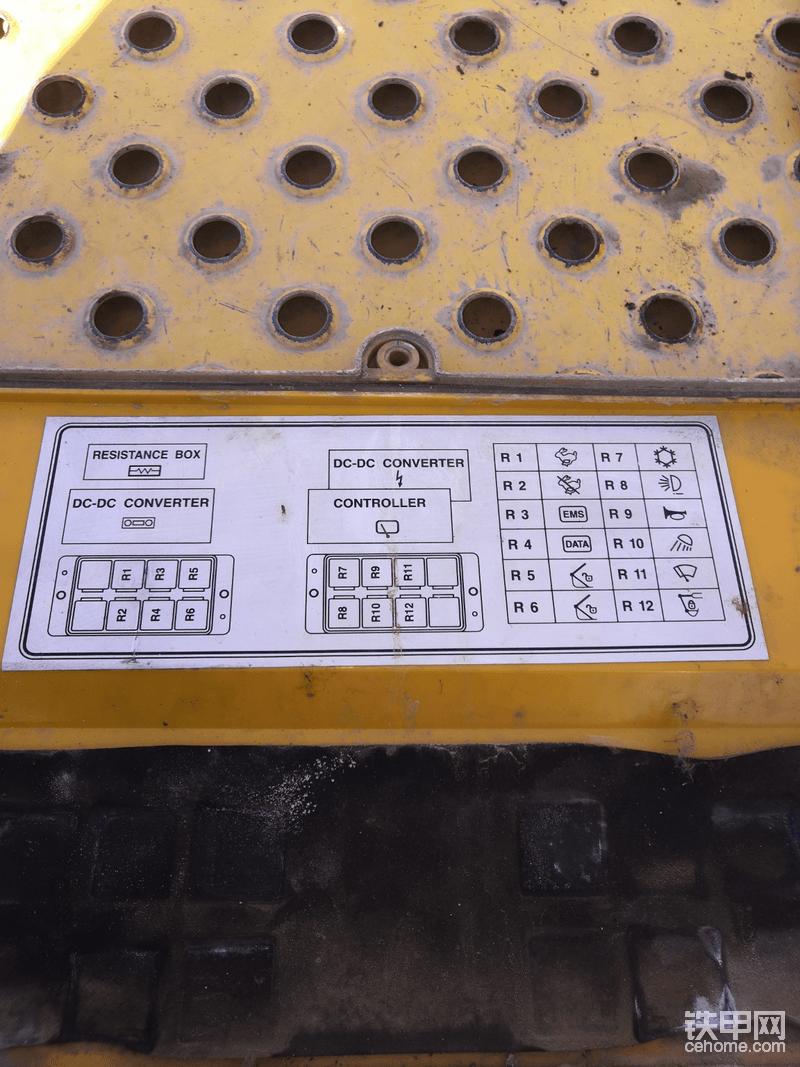 沃尔沃继电器控制盒的说明。