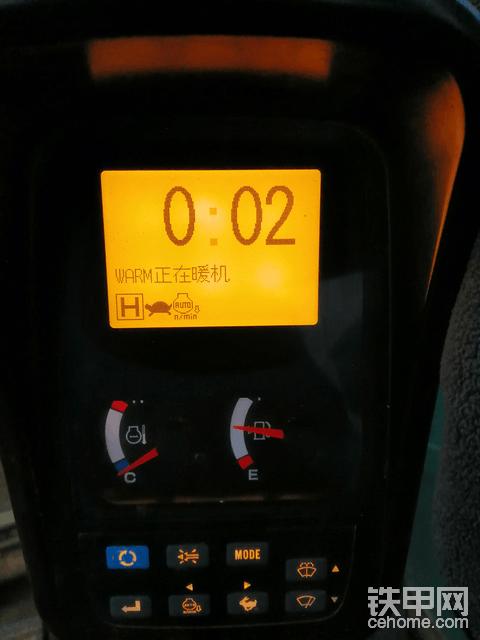 神钢350跳warm正在暖机,是啥意思,