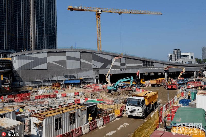 高铁项目及站点施工现场