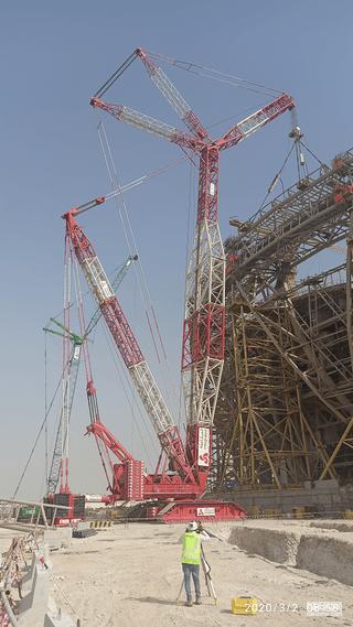 热火朝天的海外工地——9万座超大体育场施工机械美图来袭!