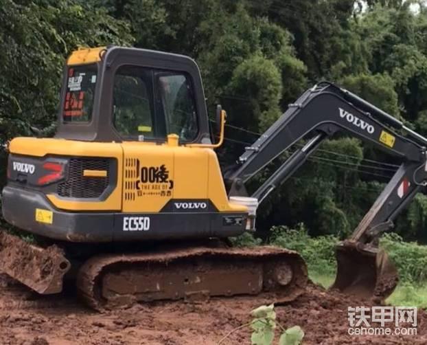 【我与爱机】沃尔沃EC55D挖掘机700小时使用感受-帖子图片