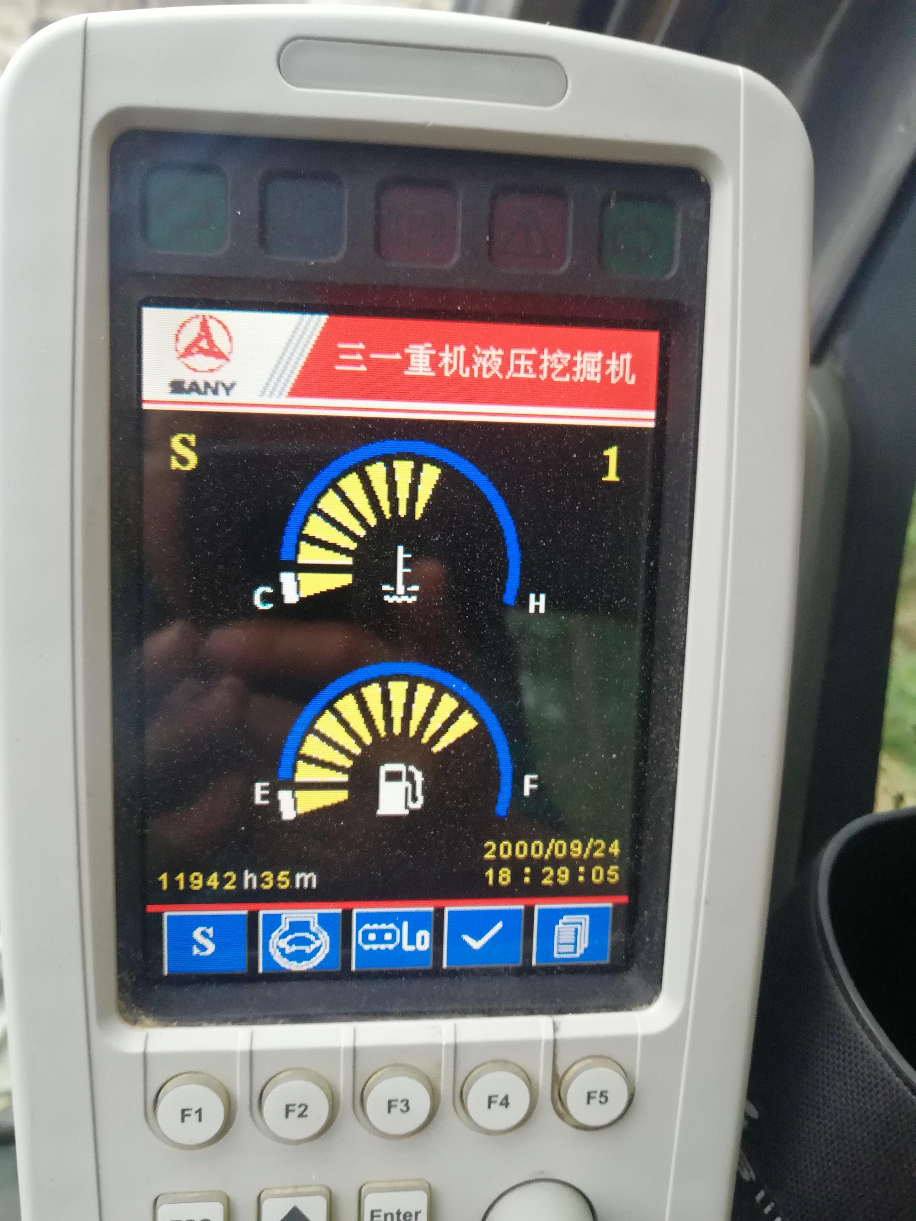 三一135-8挖机显示屏系统时钟错误