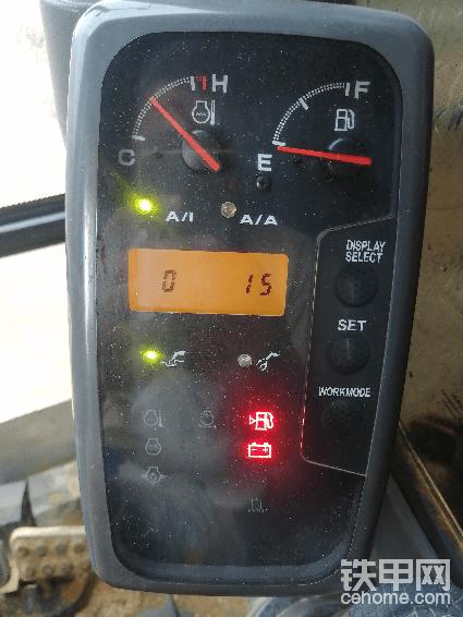 日立130H故障码15是什么意思?