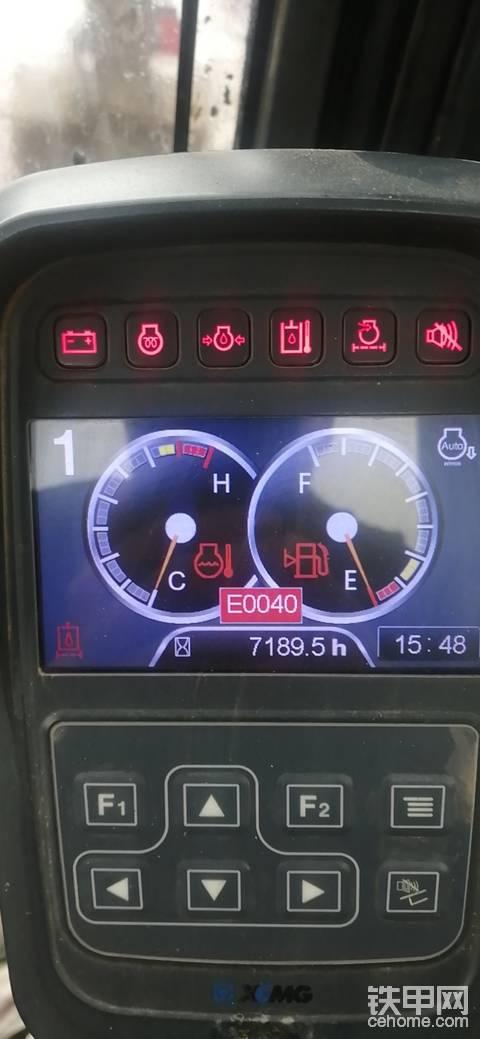 徐工80挖机E0030故障怎么处理?
