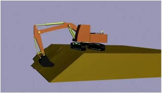 图解挖掘机修坡教程