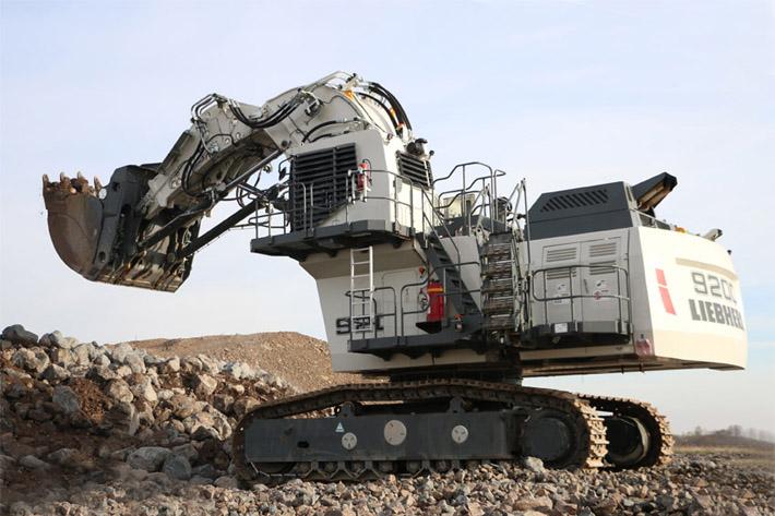 太大了!上千万的利勃海尔挖掘机你见过吗?