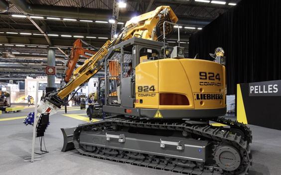 挖机中的鼹鼠:利勃海尔R924Texp。