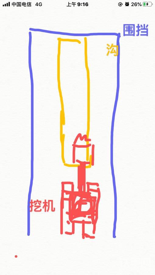 挖機在空間狹窄的圍檔中,挖溝不用怕有石頭-帖子圖片