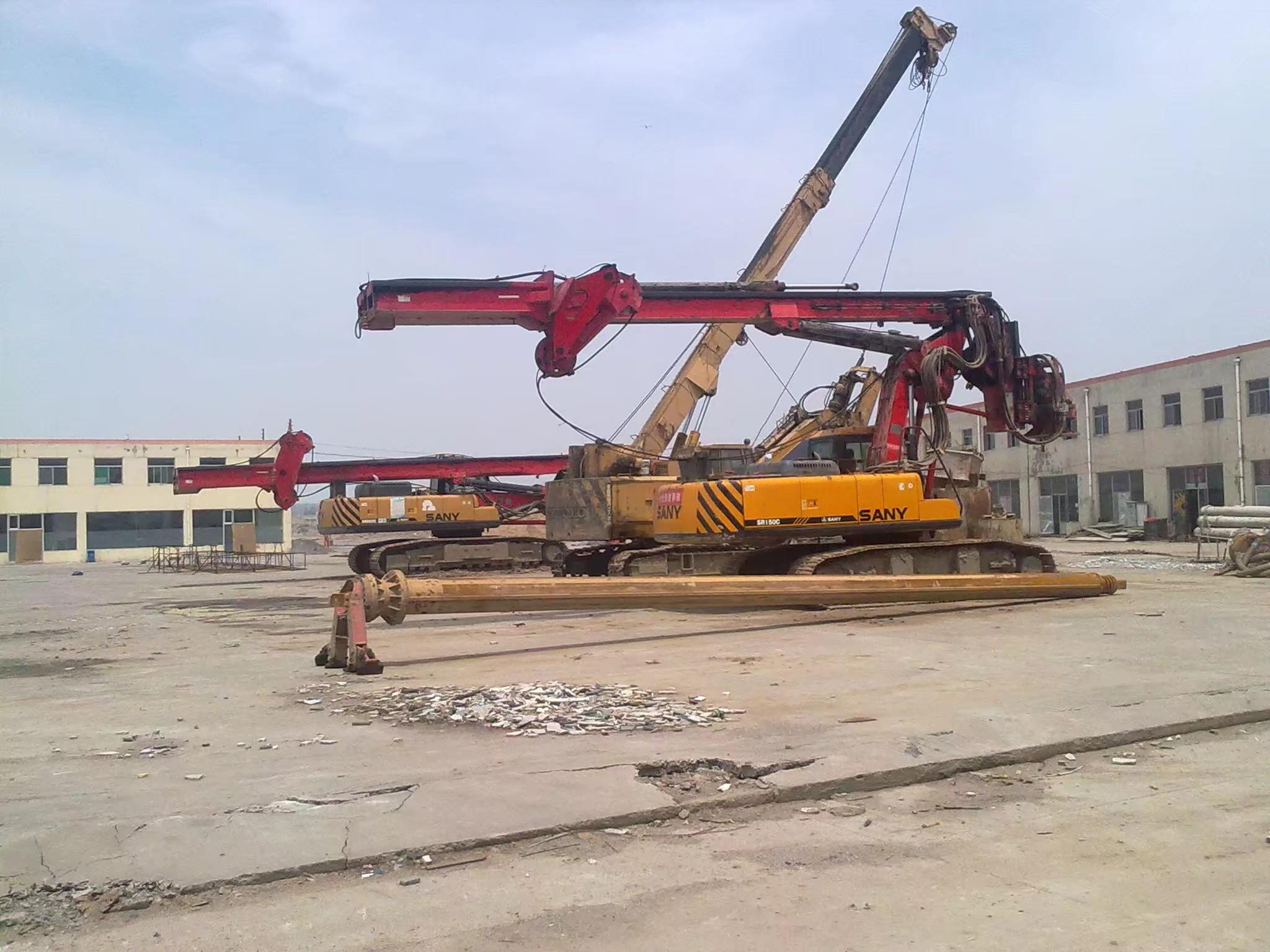 【三一国产力量】工地上的三一旋挖钻和吊车