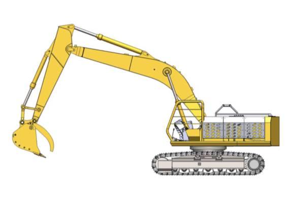 大小臂与日立ZX200-1极其相似,很可能得到了日立的加持。