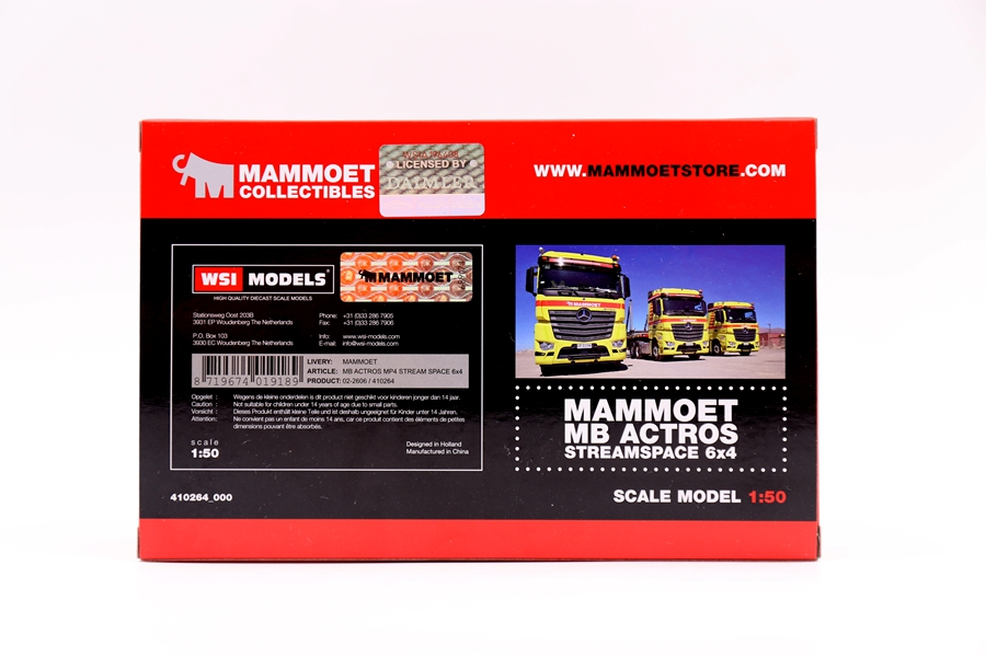 MAMMOET 1:50奔驰AROCS MP4卡车合金模