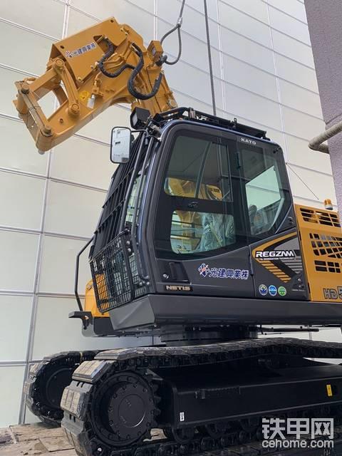最新加藤514MR杠7拆卸挖掘机