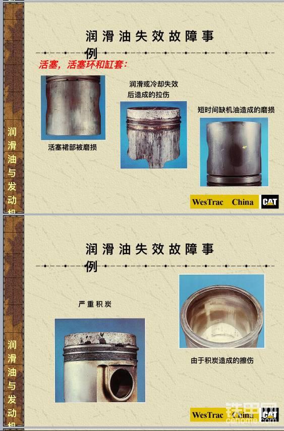 發動機潤滑失效活塞磨損程度展示圖-帖子圖片