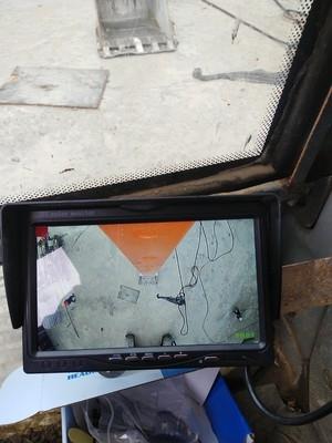 淘宝淘的 长臂挖机摄像头 盲区辅助
