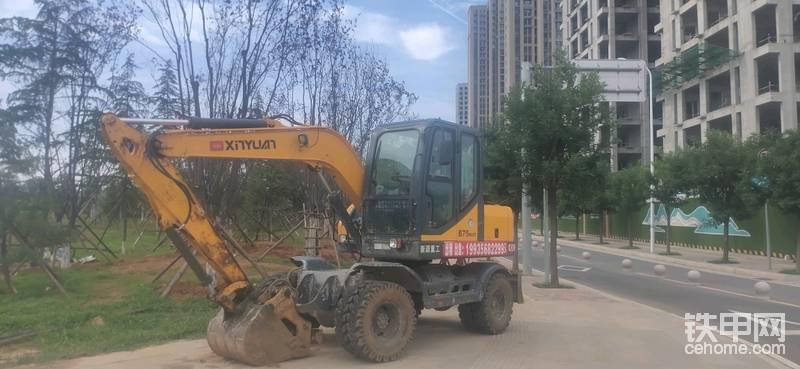 【小宁说车2】路遇新源XYB75W-8轮式挖掘-帖子图片