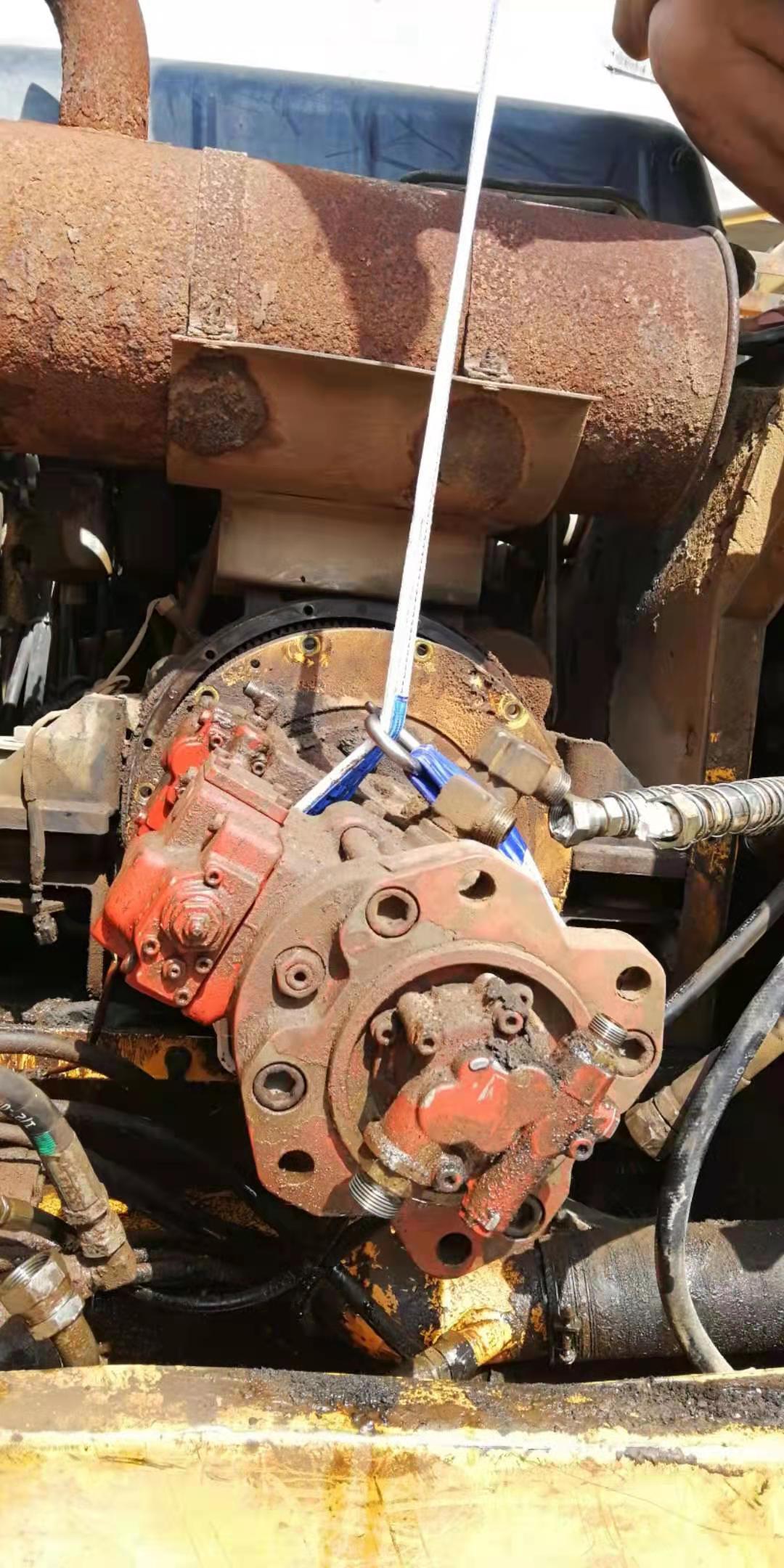 天热易高温,现代215-7C油温高,换泵完美解决。