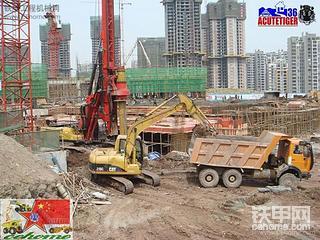 重庆母拉登工地行(旋挖钻+挖掘机配合作业)